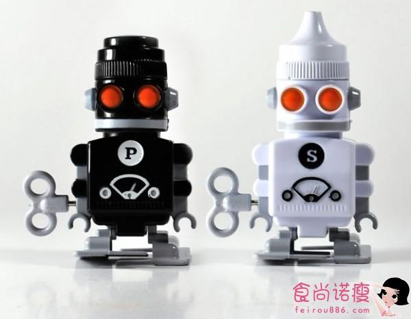 超酷的机器人调料瓶